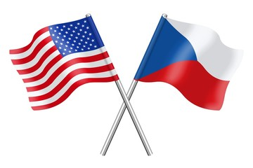 Flags : Czech Republic and the United States