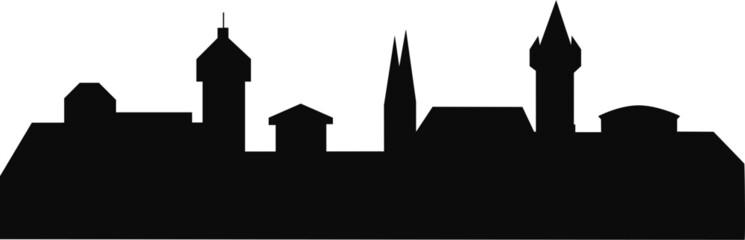 Nürnberg Deutschland Silhouette