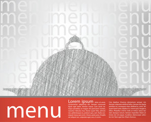 food tray illustration, menu template