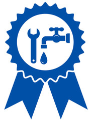 round icon with plumbing wrench