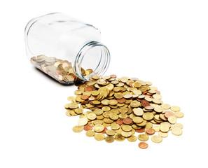 Münzen im Einmachglas