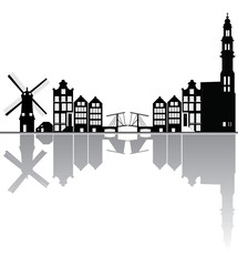 amstrdam city skyline