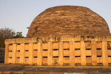Stupa 2. Buddhist Monuments at Sanchi. Madhya Pradesh, India