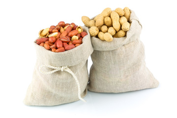 Sacks of peanut