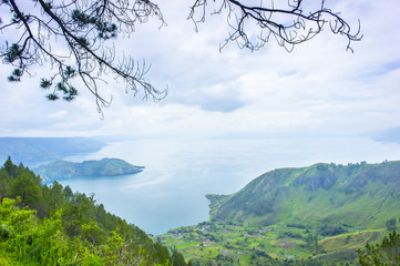 lake toba countryside