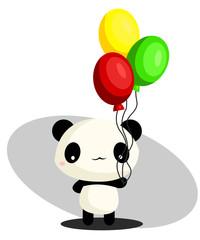 Panda and Balloon