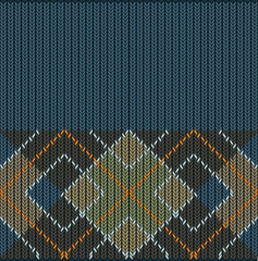 Vector Seamless Argyle Sweater Background, Detailed