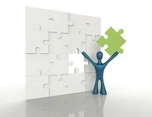 Building Puzzle 3d concept