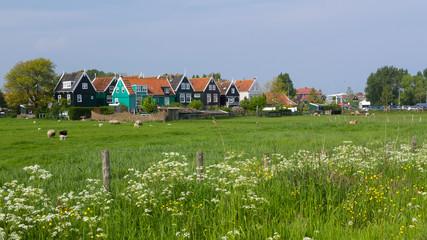 Historic Dutch fishermen village called Marken