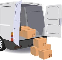 furgone per il trasporto