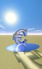 euro fondant au soleil