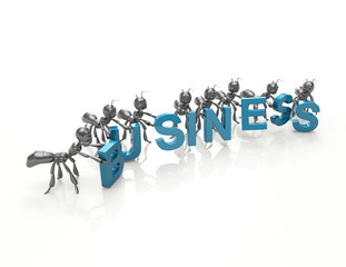 Business 3d word concept