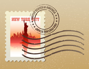 new york city postage stamp