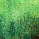 Green acrylic paint background texture paper