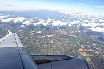 Flying over England