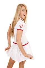 nurse back hold out skirt