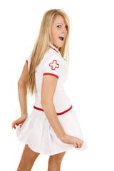 nurse back hold out skirt