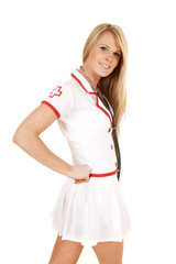 nurse side look smiling