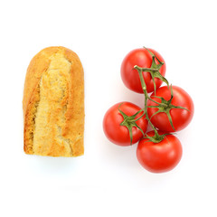 Baguette mit Tomaten