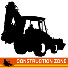 Backhoe Loader Construction Vehicle