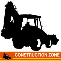 Backhoe Loader Construction Vehicle