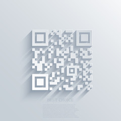 Vector modern qr code background