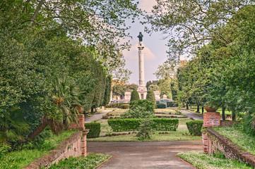 city park in Forli, Emilia Romagna, Italy