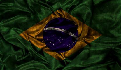 Grunge Brazil flag background
