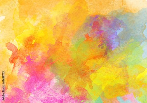 Fototapeta Colorful Watercolor Background.
