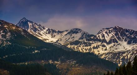 Peaks in snow