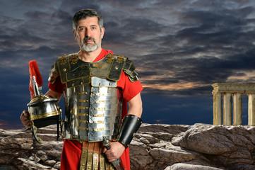 Roman Centurion with Metal Armor