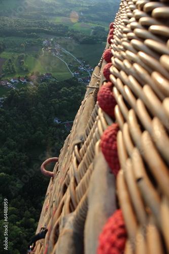 Foto Spatwand Ballon Landschaft Ballonfahrt