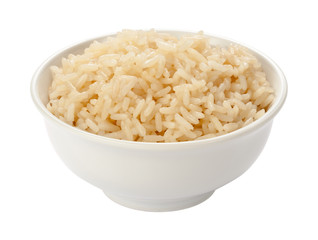 Cooked Rice in a White Bowl