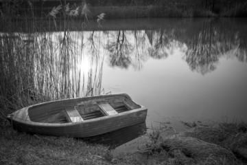 Barca sul fiume Adda
