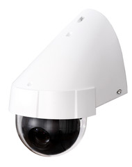 Day & Night Color IP surveillance camera isolated on white backg