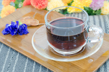 Butterfly pea juice mix tamarind herb for health