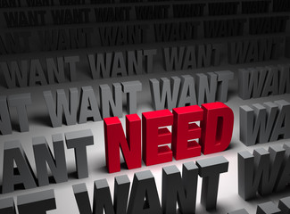 Need More Important Than Want