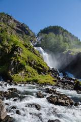 Latefoss Wasserfall in Norwegen
