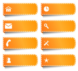 Vector labels or buttons for internet