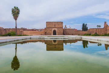 El Badi Palace Pavilion at Marrakech, Morocco