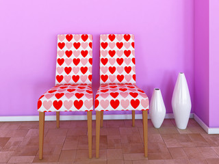 Chairs with hearts