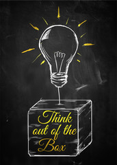 Think out of box sketch bulb