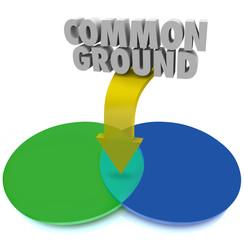 Common Ground Venn Diagram Shared Interest Agreement Compromise
