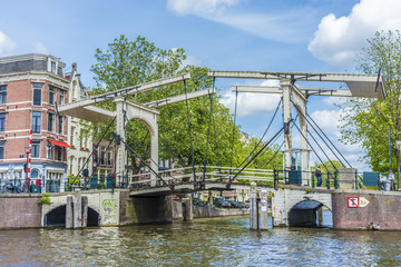 Drawbridge in Amsterdam, Netherands.