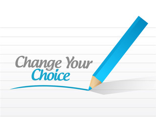 change your choice message illustration design