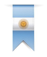 argentina flag banner illustration design