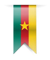 cameroon flag banner illustration design