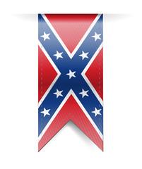 confederate flag banner illustration design