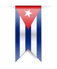 cuba flag banner illustration design