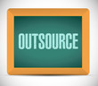 outsource message on a board illustration design